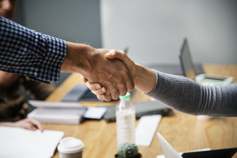 business partnership handshake